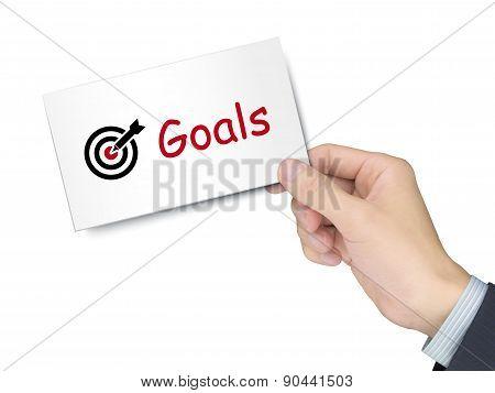 Goals Card In Hand