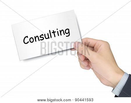Consulting Card In Hand