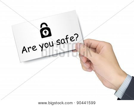 Are You Safe Card In Hand