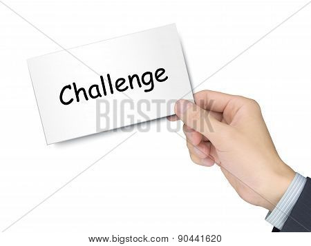 Challenge Card In Hand