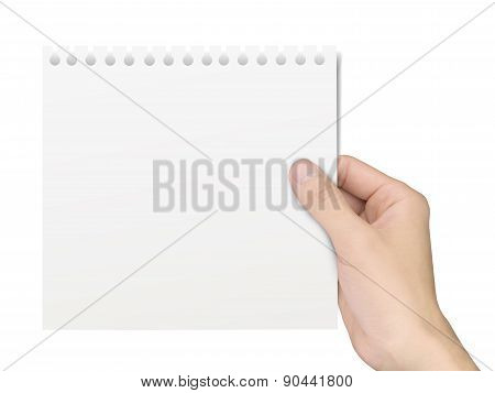 Business Concept: Hand Holding A Notepaper
