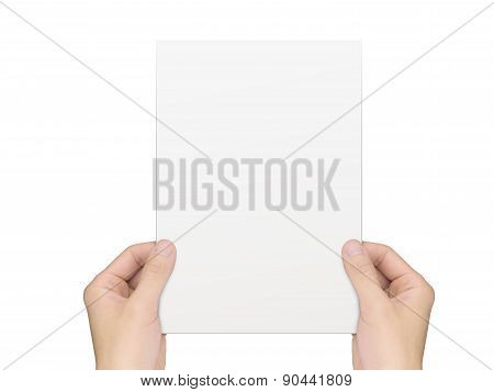 Business Concept: Hands Holding A Notepaper