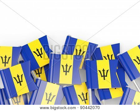 Flag Pin Of Barbados