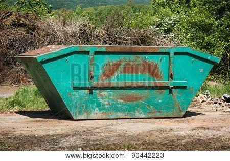 Green Skip Or Dumpster