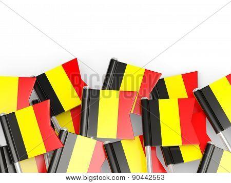 Flag Pin Of Belgium