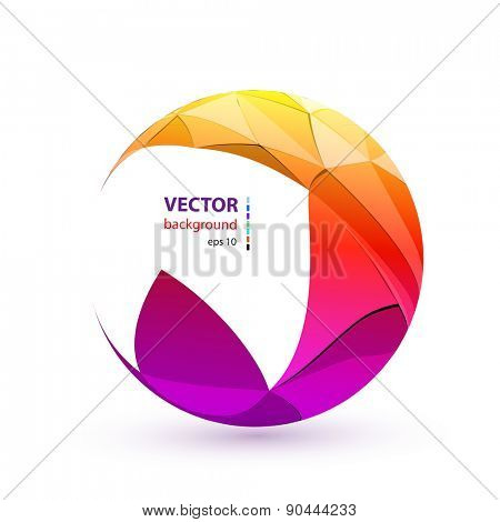 Abstract color sphere, easy all editable