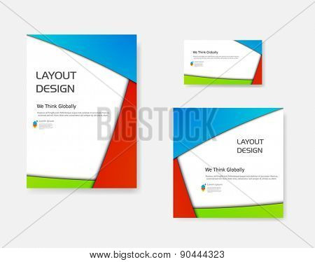 Business modern template, easy editable