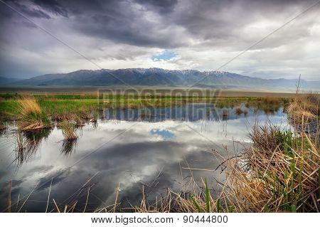 Mountains And Lake In Kazakhstan