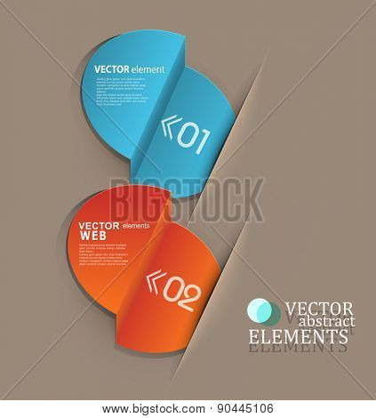 vector set, with elements for business or web design