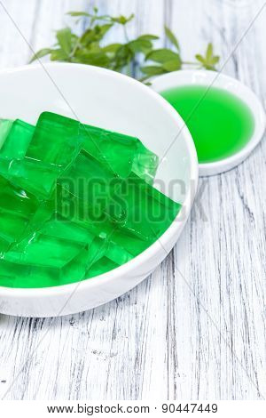 Portion Of Woodruff Jelly