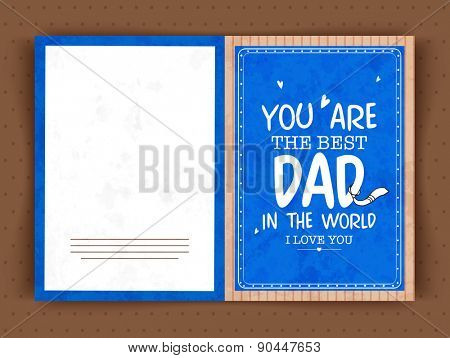 Blue greeting card design with text