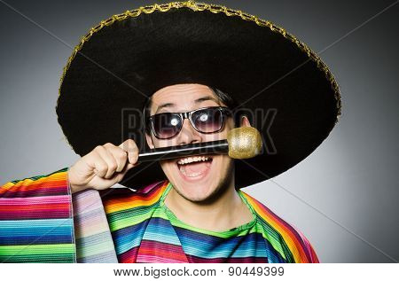 Funny mexican singing in karaoke