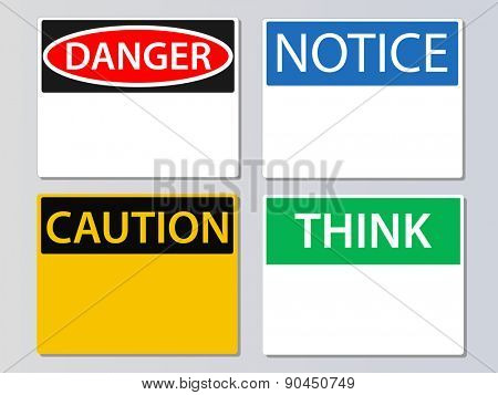 Workplace signs vector illustration