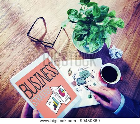 Business Strategy Marketing Operations Plan Development Concept