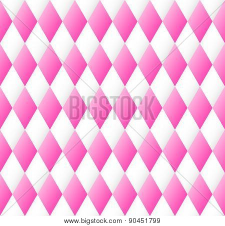 Seamless Diamond Pattern In Pink And White