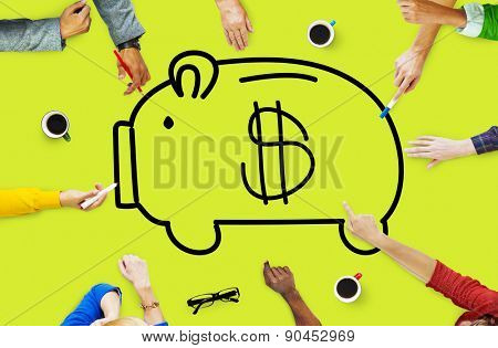 Piggy Bank Saving Money Economize Profit Concept