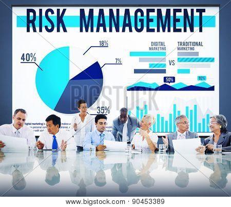 Risk Management Organization Security Safety Concept