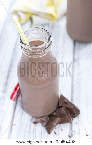Chocolate Milk In A Small Bottle