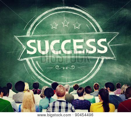 Success Achievement Banner Competition Goal Concept