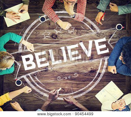 Believe Hope Inspiration Religion Worship Concept