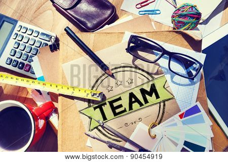 Team Teamwork Collaboration Cooperation Connection Concept