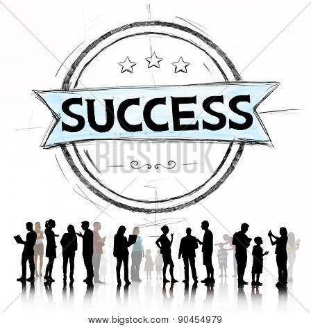 Success Growth Strategy Goals Achievement Concept