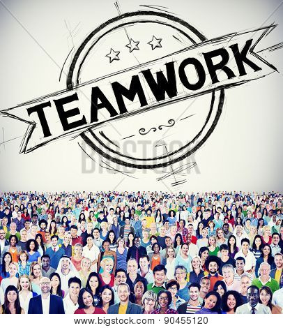 Teamwork Team Collaboration Connection Cooperation Concept