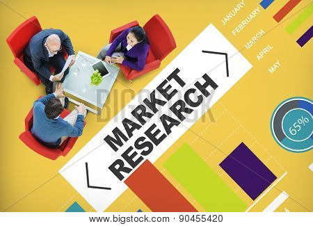 Market Research Analysis Bar Graph Solution Strategy Concept