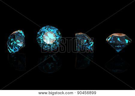 Gemstone. Collections of jewelry background. Blue Topaz