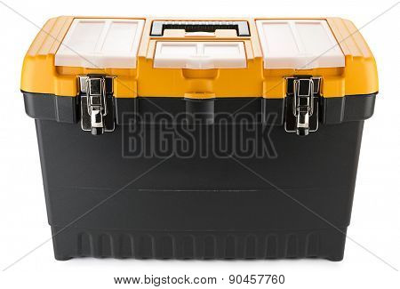 Professional toolbox isolated on white background