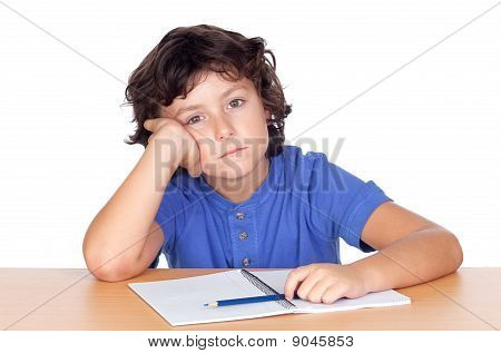 Sad Small Student