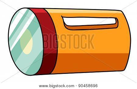 Closeup classic design of a torch