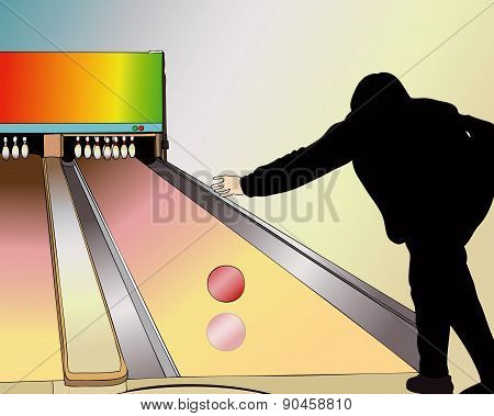 A Player At The Bowling