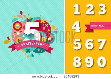 anniversary - abstract background with set of numbers