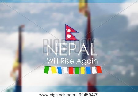 illustration of Nepal earthquake 2015 help and donation