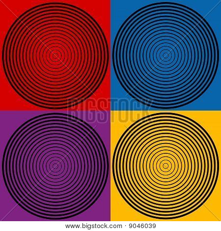 4-color Spiral Designs