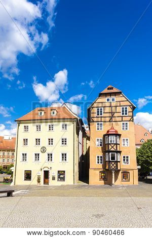 complex of medieval houses called Spalicek, Cheb, Czech Republic