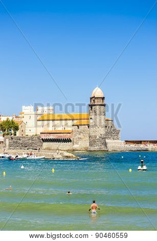 Collioure harbour, Languedoc-Roussillon, France