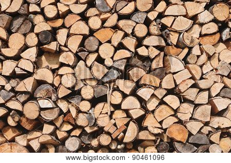 Background Of Chopped Firewood