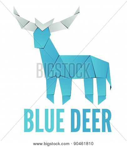 Deer logo design on white background for your company