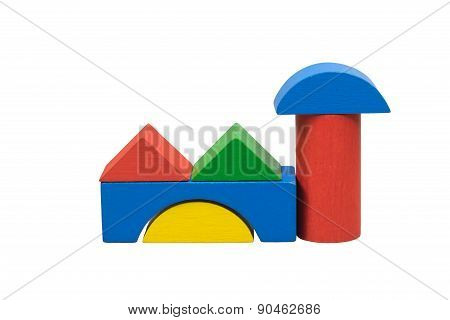 Factory From Colored Wooden Toys