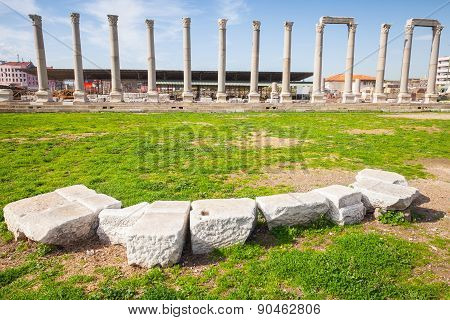 Ruins Of Ancient City Smyrna. Izmir, Turkey