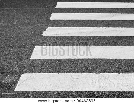 Asphalt Road With Pedestrian Crossing Road Marking