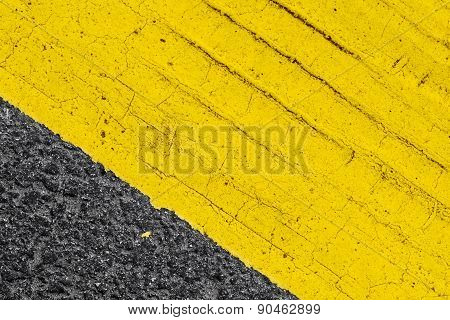 Abstract Yellow Road Marking Fragment