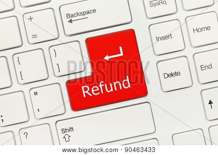 White Conceptual Keyboard - Refund (red Key)