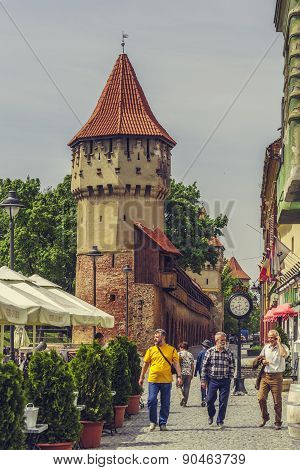 The Carpenters' Tower In Sibiu City, Romania