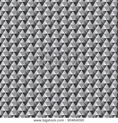 Seamless grey gradient triangle pattern