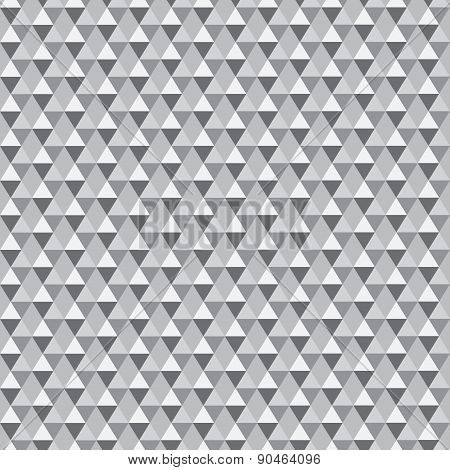 Seamless grey triangle pattern. All triangles are grouped separately and can be easily modified