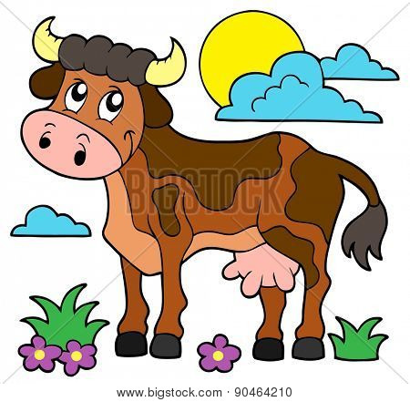 Cow theme image 1 - eps10 vector illustration.