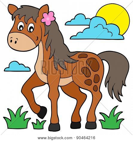 Horse theme image 6 - eps10 vector illustration.